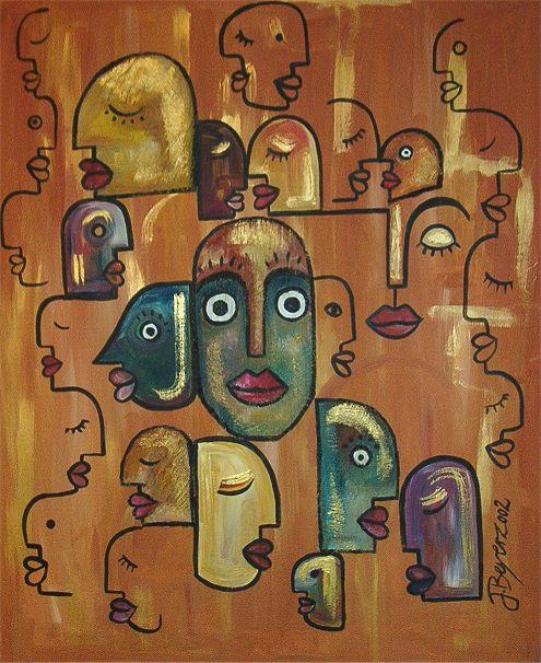 gesichter abstrakt gemalt